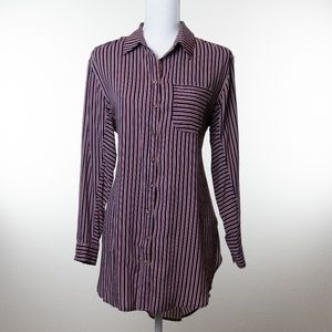 ANTHROPOLOGIE MAEVE Striped Blouse Size S